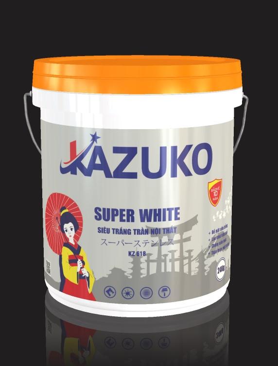 Sơn siêu trắng trần nội thất Kazuko