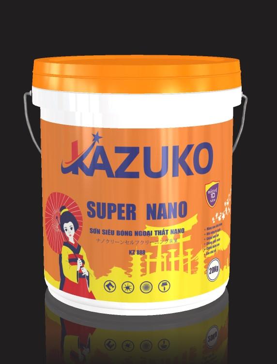 Sơn siêu bóng ngoại thất nano Kazuko