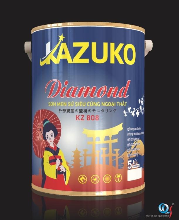 Sơn men sứ siêu cứng nội thất Kazuko