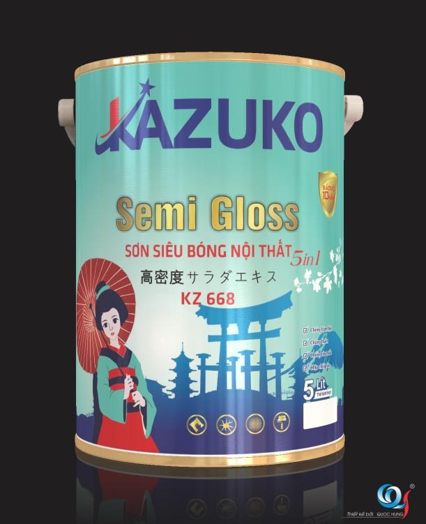 Sơn kazuko semi Gloss
