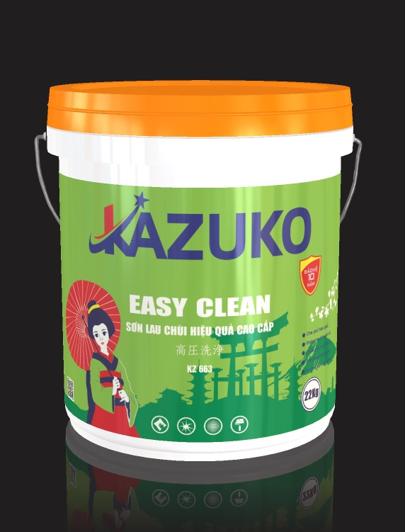 Sơn lau chùi hiệu quả Kazuko