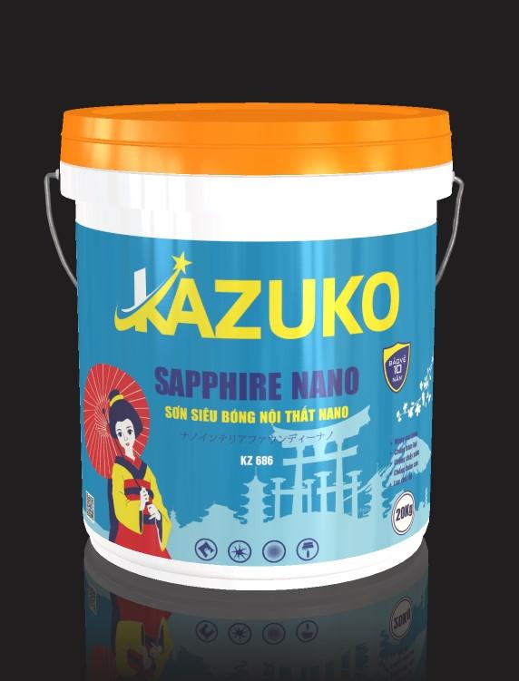 Sơn siêu bóng nội thất nano Kazuko